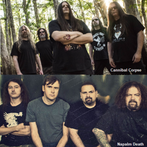Cannibal Corpse e Napalm Death